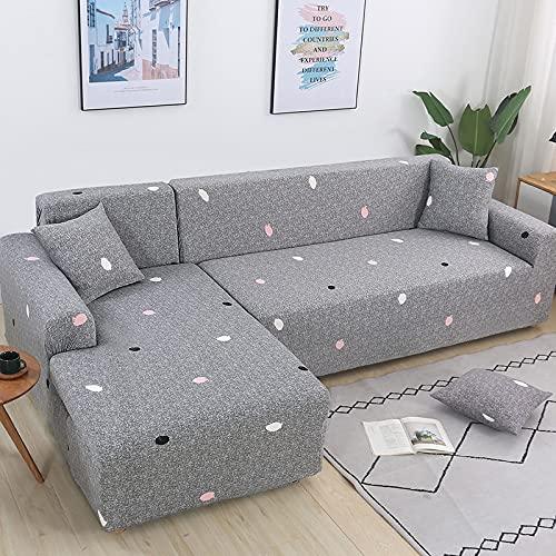 WXQY Wohnzimmer elastische L-förmige Sofa Schutzhülle rutschfeste Sofa Schutzhülle Haustier Schutzhülle A19 3-Sitzer