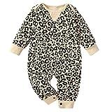 puseky Leopard Strampler Baby Strampler Overall Leopard Langarm Overall Baby Strampler