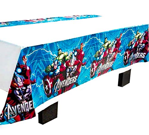 """CharmTM Set of 2 Superhero Tablecloths AV Party Tablecloths Plastic 42"""" X 70"""" Party Decorations and Supplies"""