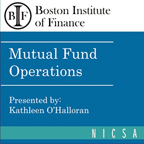 Mutual Fund Operations audiobook cover art