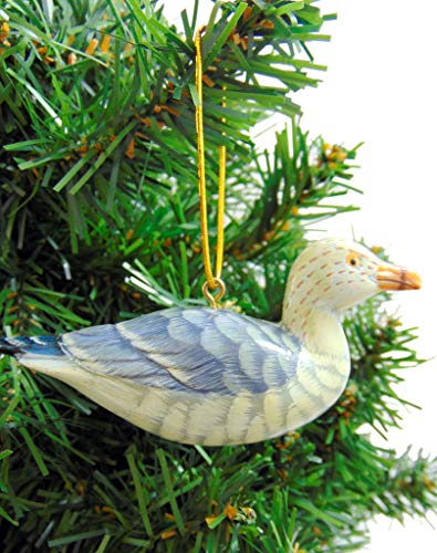 Seagull Christmas Ornament Realistic Bird Tree Decoration, 4 Inches Long