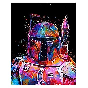 5D Full Drill Diamond Painting Kit UNIME DIY Diamond Rhinestone Painting Kits for Adults and Beginner Embroidery Arts Craft Home Decor 16 X 12 Inch Star Fighters Diamond Painting 1