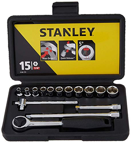 Stanley 0 86 775 - Juego de llaves de vaso (15 unidades, métricas)