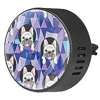 エッセンシャル オイル ベント クリップ用カー ディフューザー、動物犬ブルドッグ ,2 パック 40mm アロマセラピー芳香剤