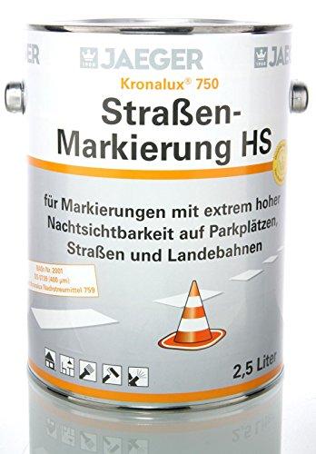 Jaeger Kronalux Straßenmarkierungsfarbe HS 750 weiß 2,5Ltr.
