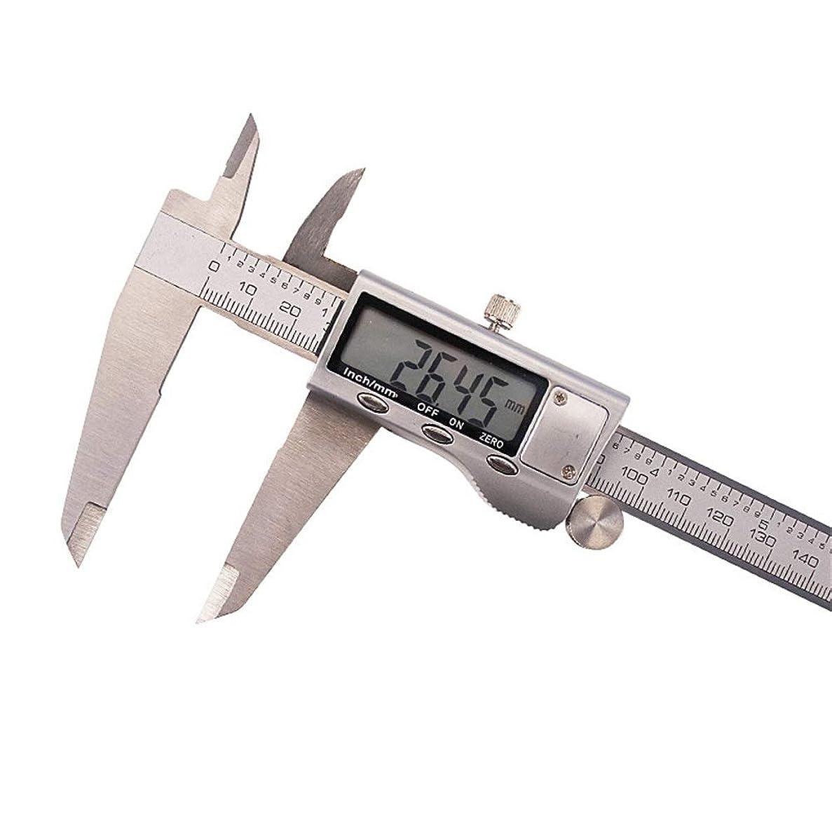 意図的フルーツビザノギス 測定ツール300MMメタルメーター4cr13ステンレス鋼の電子バーニアデジタルキャリパー 測定工具 精密作業大工DIY (Color : Silver, Size : 0-300MM)
