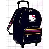 Cartable A Roulettes Trolley Hello Kitty Noir