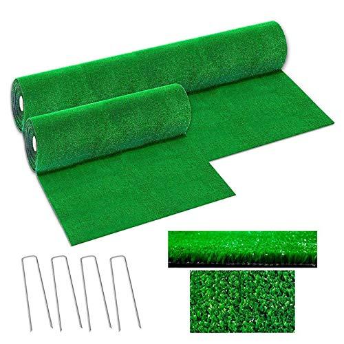 Exterior Césped Alfombra Artificial Plastico Césped Verde de la Escuela del Terraza Balcón Terrazas Perro Jardín Artificial Decorativos (1 * 1 m)