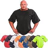 Camiseta para entrenamiento profesional S8-1-Disponible en los colores: azul marino, naranja neón, verde oliva, azul, negro, gris. Camiseta para culturismo, camiseta de ejercicio -Camiseta ideal para entrenar en el gimnasio, hombre, rojo, xx-large