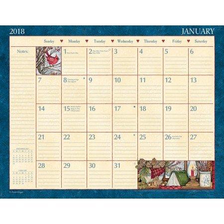 "LANG - 2018 Deskpad -""Heart & Home"" - Artwork by Susan Winget - 12 Month Format, 22"" x 17"""