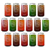 Demi Doux Low Sugar Soda - Soft Drink Made with Real Cane Sugar and No Artificial Sweeteners, 4 Flavor Variety Pack - Cola, Orange Soda, Root Beer, Ginger Ale, 16 Cans (12 oz)