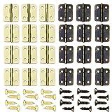 Sweieoni 100 Piezas Mini Bisagras Bisagra de Acero Inoxidable Bisagra Plegable DIY Bisagras Pequeñas Manualidades Bisagras de Armario Mini Bisagras de Cobre Puro Retro(13 * 16MM) con 400 Empulgueras