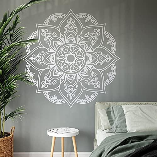 Hermosas calcomanías de pared de mandala bohemio decoración interior del hogar sala de estar dormitorio decoración pegatinas Yoga Studio murales A7 57x57cm