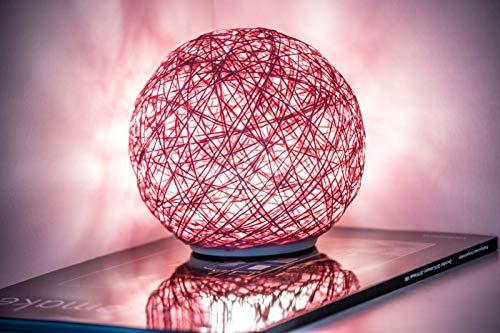 3D Mondlampe 16 Farben RGB, USB-Aufladung, Fernbedienung und Touch Control, Rattan, LED-Nachtlicht, Deko für Schlafzimmer, Wohnzimmer, Geschenk für Frauen und Kinder, 15 cm Rosa