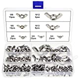 OCR 100Pcs 7Sizes Butterfly Wing Nuts Assortment Kit, M3 M4 M5 M6 M8 M10 Sizes Stainless S...