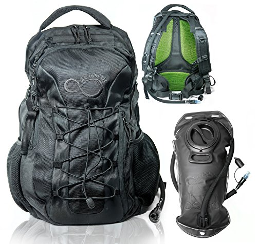 Live Infinitely Hydration Backpack with 3.0L TPU Leak Proof Water Bladder- 720D Polyester...
