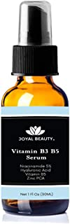 Niacinamide Vitamin B3 Hydrating B5 Gel Hyaluronic Acid Serum with Zinc. All Natural Oil-free Serum to Brighten and Hydrate Skin