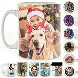 Personalised Mug, (11oz) White Mug Customised with Two Image Photo Collage
