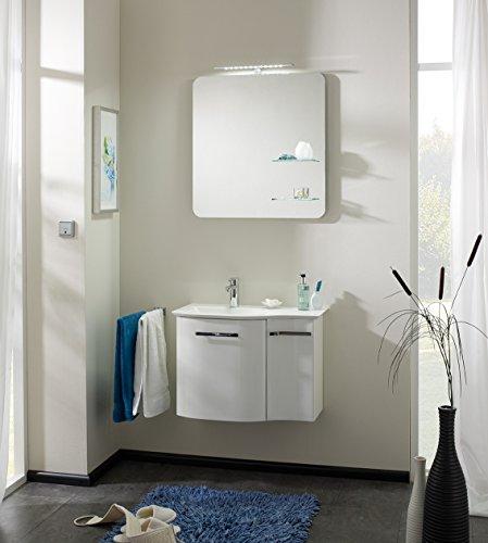 PELIPAL Solitaire 6900 3 TLG. Badmöbel Set/Waschtisch/Unterschrank/Flächenspiegel mit Glasabla