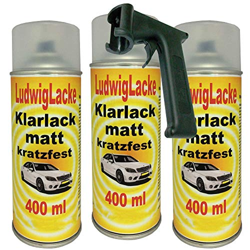 Klarlack matt Spraydose 3 x 400ml Plus Haltegriff