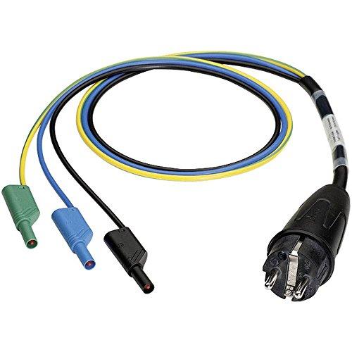 Benning 044142 Messadapter Schutzkontakt-Stecker - Lamellenstecker 4mm Schwarz, Blau, Grün, Gelb