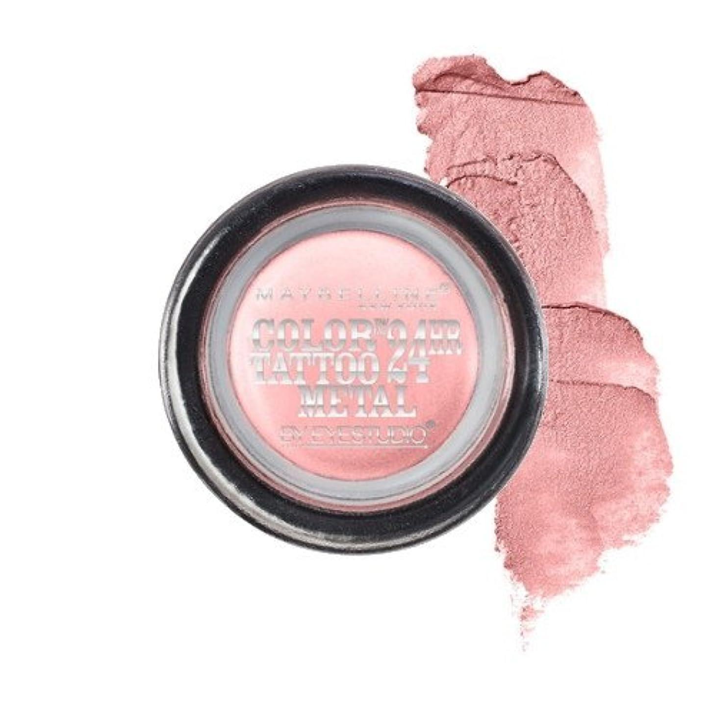 大きさ引き潮侵入(3 Pack) MAYBELLINE Eye Studio Color Tatoo Metal 24Hr Cream Gel Eye Shadow - Inked In Pink (並行輸入品)