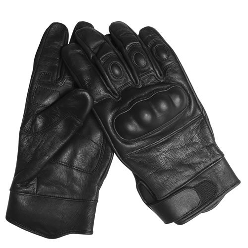 G8DS® Security Tactical Gloves Taktische Handschuhe Einsatzhandschuhe Leder Knöchelschutz schwarz S-XXL (XL)