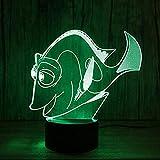 NewbieBoom Amazing Magic Optical Illusion 3D Led Night Light Reef Fish USB Table