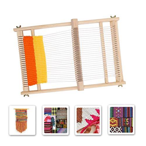 Myriad Choices Kit Telar DIY Marco de Tejer Máquina de Tejer No Requiere Ensamblaje Kit Telar de Hilo o Lana para Bufanda Guantes y Suministros de Teje(40x30cm)