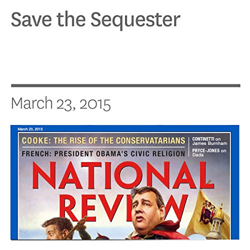 Save the Sequester audiobook cover art