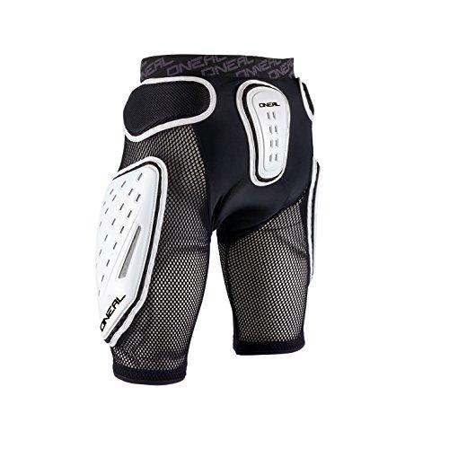 O'NEAL | Protektoren-Hose | Motocross Enduro Motorrad | High-Density Eva Schaum, Integrierte Belüftungspads, elastischer Taillenbereich | Kamikaze Short | Erwachsene | Schwarz Weiß | Größe L