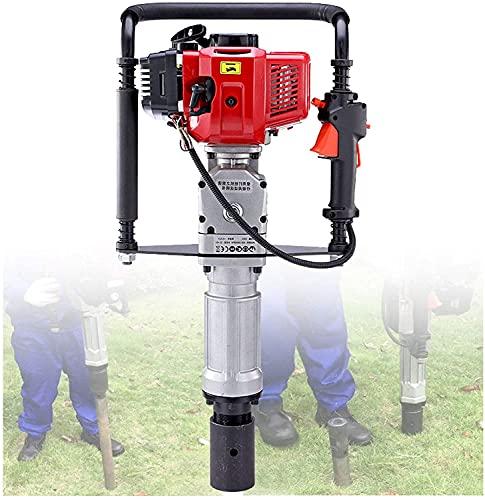 wsbdking Controladores de Post de Gas Post 4-Stroke 1900W 52CC Conductor de acumulación de gasolina, pilotador con kit de herramientas, construcción de cerca para huertos, jardines y pastizales, diáme