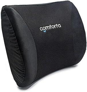 وسادة كومفرتا ميموري فوم للظهر - مناسبة لمقاعد المكتب والسيارة والأثاث المنزلي (اللون أسود)