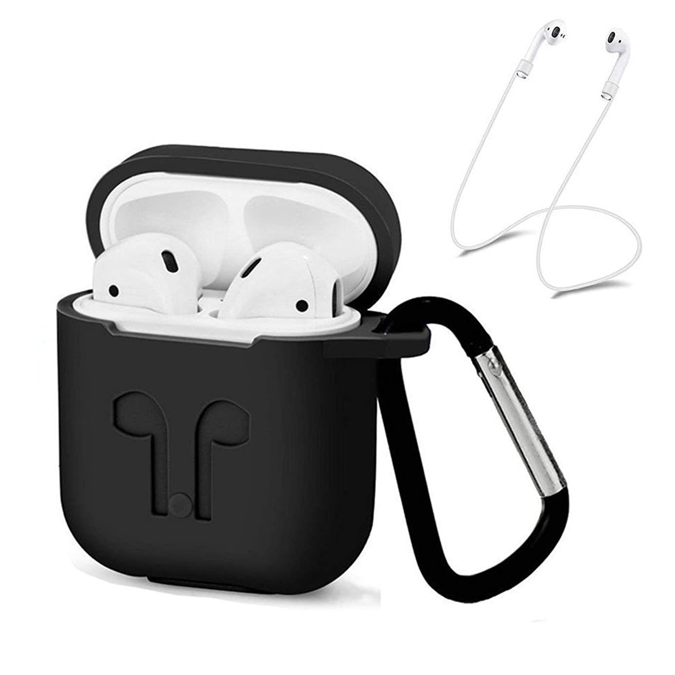 YRD TECH Silicone Blueteeth Wireless Earphone Case for AirPods Protective Cover Skin Accessories for Apple Airpods Charging Box