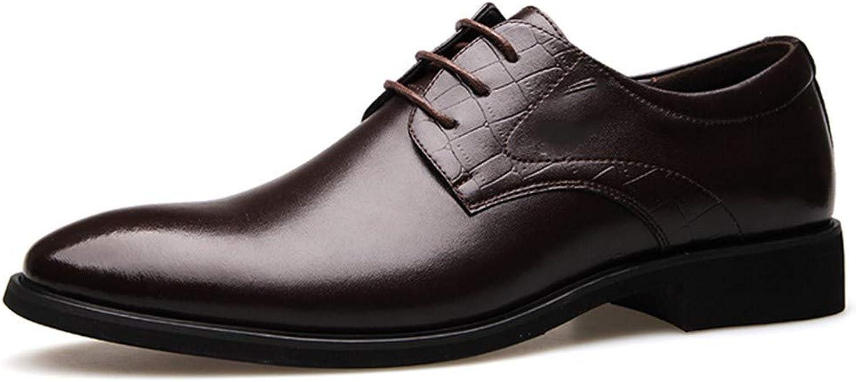 AADDIN Leather shoes Handmade Men Flat Leather Men Lace-Up Business Men shoes Men Dress shoes