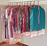 13 Piece Garment Bags for Closet Storage - Clear Vinyl and Poly Plastic Material Designed for Convenient Storage
