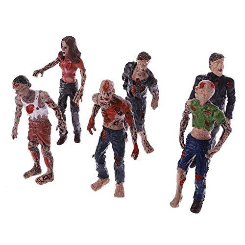 ZOOMY 6 Piezas Caminando Corpses Modelo Terror Zombies Niños Niños Figuras de Acción Juguetes Muñecas