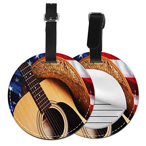 Etiquetas para Equipaje Bolso ID Tag Viaje Bolso De La Maleta Identifier Las Etiquetas Maletas Viaje Luggage ID Tag para Maletas Equipaje Guitarra Acústica de Música Country