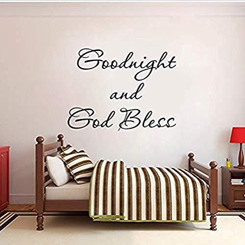 Gute Nacht und Gott segne Wandkunst Angebot PVC Abnehmbare Wandaufkleber 62X47 6CM