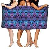 winterwang Toallas de baño con diseño de Calavera Unisex Toallas de baño para Adolescentes Adultos Toalla de Viaje Toalla 31x51 Pulgadas