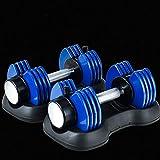 MQQ Schnell Einstellbare Hantel 27,5 Lbs Gewicht Set mit Griff und Gewicht-Platte for Gym and Home...