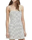 French Connection Women's Whisper Light Dress, White Black Polka dot, 12