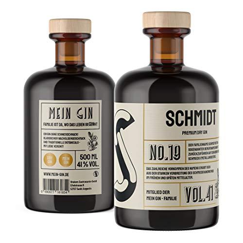 Mein Gin - Der Gin mit deinem Namen ! Premium Dry Gin 0,5L (41% Vol) - Wähle deinen Namen ! (Schmidt Gin)
