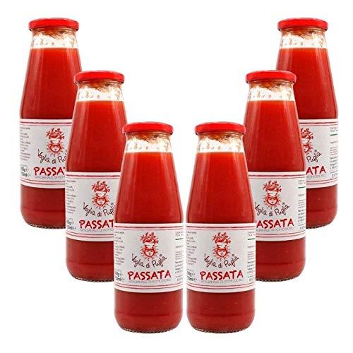 Voglia Di Puglia Passata Di Pomodoro Artigianale Multipack Da 6 Bottiglie Da 720 ml 100% Made In Italy