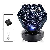 Syina Sky Projector Light DREI Lichtfarben Sterne Home Planetarium Star Projector USB Wiederaufladbarer LED-Nachtlichtprojektor für Zuhause Schlafzimmer