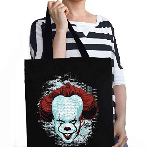 ES Sac Stephen Kings Pennywise Clown 32,3x37cm en Coton Noir