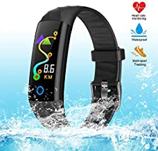 Fitness Tracker Smart Watch,IP67 Waterproof Activity Tracker Smart Watch with Heart Rate Blood Pressure Message Call Reminder Smartwatch for Women Men Kids,Bluetooth Touch Screen Sport Watch