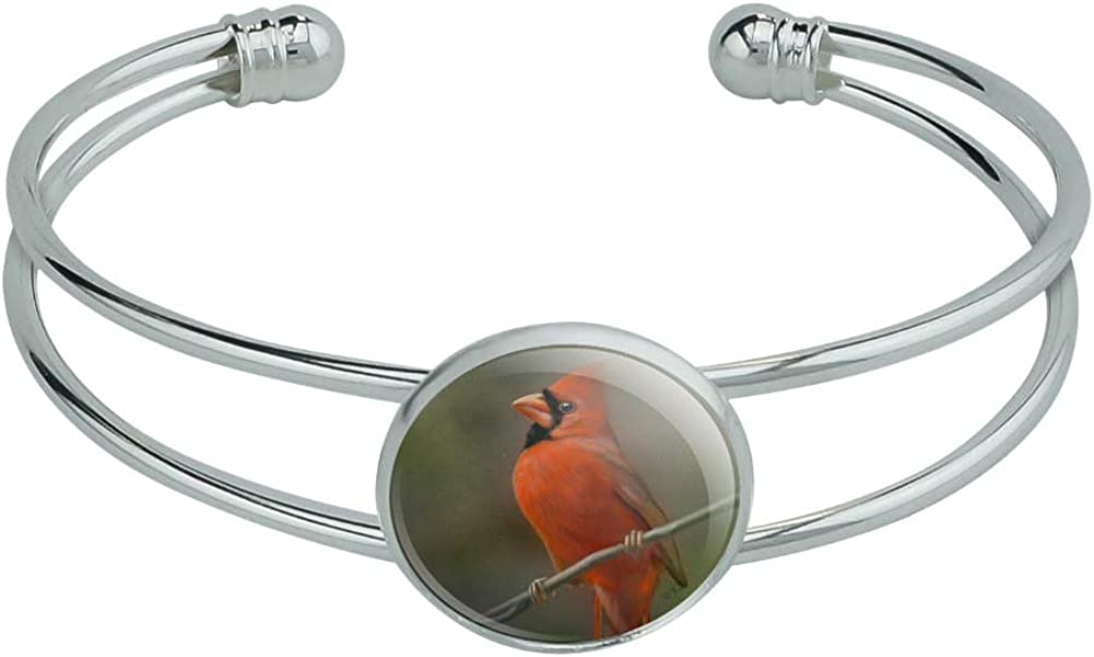 GRAPHICS  MORE Red Cardinal Bird On Branch Novelty Silver Plate