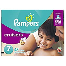 top rated Pampers Cruiser Disposable Diapers, Size 7, 48 Pieces, SUPER 2021