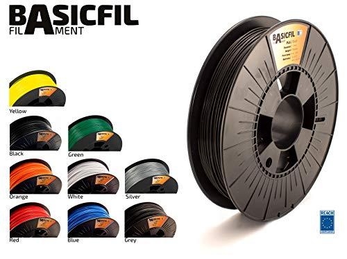 BASICFIL PLA  1.75mm, 500 gr, 3D printing filament , Black